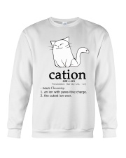 Cat-ion Cation science puns Funny Crewneck Sweatshirt thumbnail