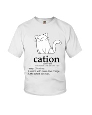 Cat-ion Cation science puns Funny Youth T-Shirt thumbnail