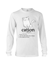 Cat-ion Cation science puns Funny Long Sleeve Tee thumbnail