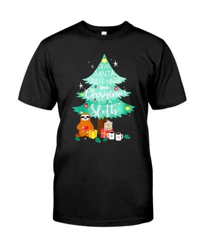 Dear santa all I want for Christmas is a Sloth