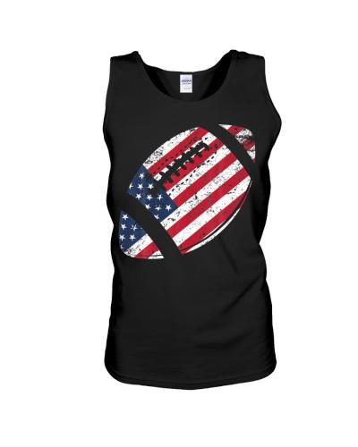 American Football 4th July American Flag Patriotic