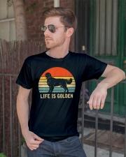 Golden Retriever Dog Life Is Golden Vintage Classic T-Shirt lifestyle-mens-crewneck-front-2