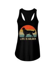Golden Retriever Dog Life Is Golden Vintage Ladies Flowy Tank thumbnail