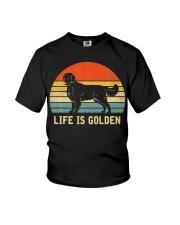 Golden Retriever Dog Life Is Golden Vintage Youth T-Shirt thumbnail