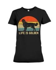 Golden Retriever Dog Life Is Golden Vintage Premium Fit Ladies Tee thumbnail