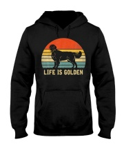Golden Retriever Dog Life Is Golden Vintage Hooded Sweatshirt thumbnail