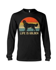 Golden Retriever Dog Life Is Golden Vintage Long Sleeve Tee thumbnail