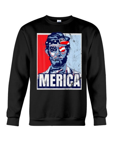 Abraham Lincoln T Shirt 4th Of July Tee Merica USA