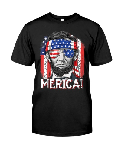 Lincoln 4th of July Merica American Flag