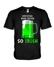 Beer Tester So Irish V-Neck T-Shirt thumbnail