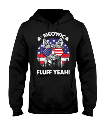 A meowica Fluff Yeah Patriotic American 4th Of