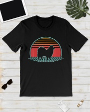 American Eskimo Dog Retro Vintage 80s Style Classic T-Shirt lifestyle-mens-crewneck-front-17