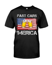 Fast car beer and merica Classic T-Shirt front