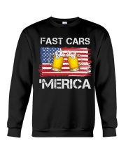 Fast car beer and merica Crewneck Sweatshirt thumbnail
