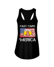 Fast car beer and merica Ladies Flowy Tank thumbnail