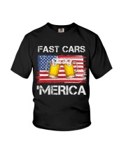 Fast car beer and merica Youth T-Shirt thumbnail