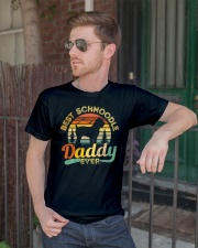 Schnoodle Dad Best Daddy Dog Lover Retro Vintage Classic T-Shirt lifestyle-mens-crewneck-front-2