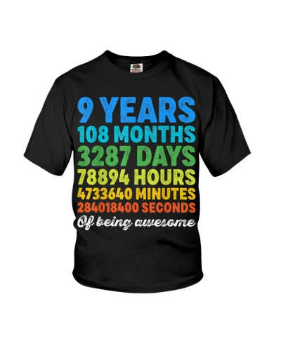 9 Years Old Gifts 9th Birthday Shirt Vintage Retro