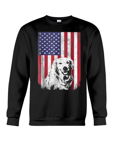 4th Of July Golden Retriever American Flag T Shirt