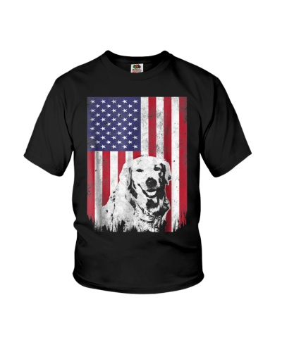 4th Of July Golden Retriever American Flag T Shirt
