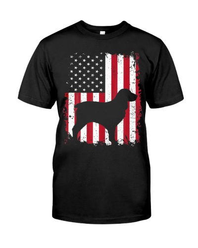 Boykin Spaniel 4th of July American USA Flag