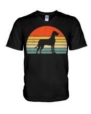 Great Dane Dog Retro Vintage V-Neck T-Shirt thumbnail