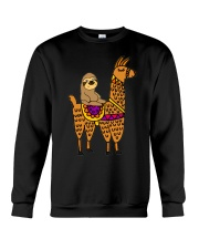 Cute sloth riding llama Crewneck Sweatshirt thumbnail
