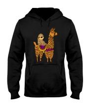 Cute sloth riding llama Hooded Sweatshirt thumbnail