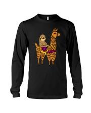 Cute sloth riding llama Long Sleeve Tee thumbnail