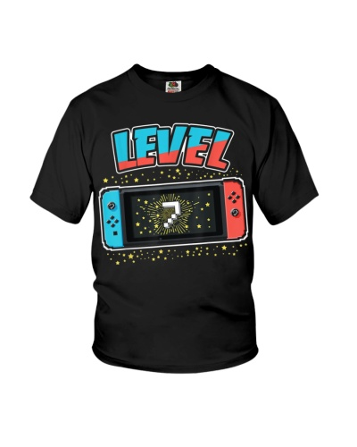 Level 7 Birthday Shirt Boy 7 Years Old Video Games