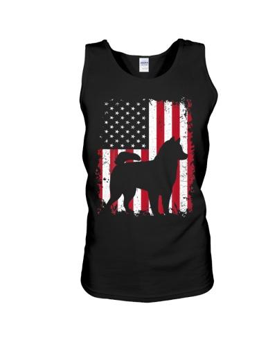 Alaskan Klee Kai 4th of July Shirt American USA