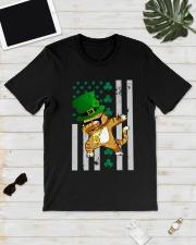 Dabbing Cat St Patricks Day  Classic T-Shirt lifestyle-mens-crewneck-front-17