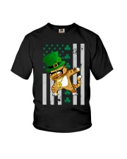 Dabbing Cat St Patricks Day  Youth T-Shirt front