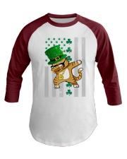 Dabbing Cat St Patricks Day  Baseball Tee thumbnail