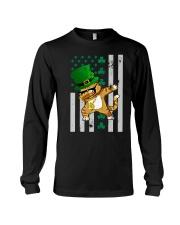 Dabbing Cat St Patricks Day  Long Sleeve Tee thumbnail