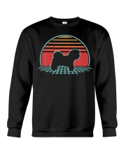 Maltese Retro Vintage Dog Lover 80s Style Crewneck Sweatshirt thumbnail