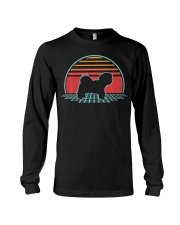 Maltese Retro Vintage Dog Lover 80s Style Long Sleeve Tee thumbnail