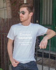 Yes I Do Have A Beautiful Daughter I Also Have Gun Classic T-Shirt lifestyle-mens-crewneck-front-2