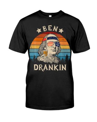 Ben Drankin Beer 4th of July Patriotic USA