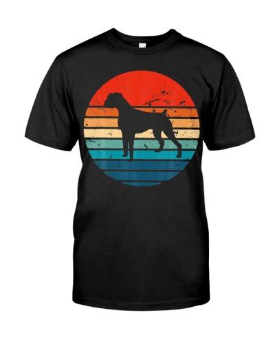 Boxer Dog Retro Vintage 70s 80s Silhouette Breed