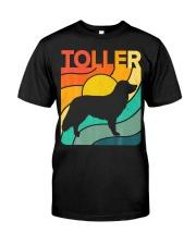 Nova Toller Vintage Retro Dog Classic T-Shirt front