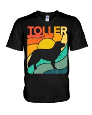 Nova Toller Vintage Retro Dog V-Neck T-Shirt thumbnail