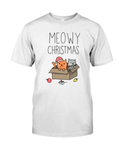 Meowy Christmas Cat Pun