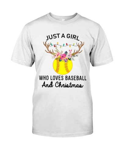 Just a girl Who loves baseball and christmas