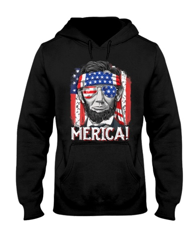 4th of July Shirts for Men Merica Abe Lincoln