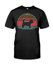 Bichon Frise Retro Vintage Dog Lover 80s Style Classic T-Shirt front