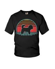 Bichon Frise Retro Vintage Dog Lover 80s Style Youth T-Shirt thumbnail