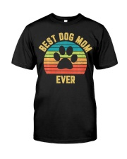 Vintage Dog Mom Mother Classic T-Shirt front