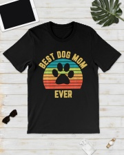 Vintage Dog Mom Mother Classic T-Shirt lifestyle-mens-crewneck-front-17