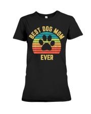Vintage Dog Mom Mother Premium Fit Ladies Tee thumbnail